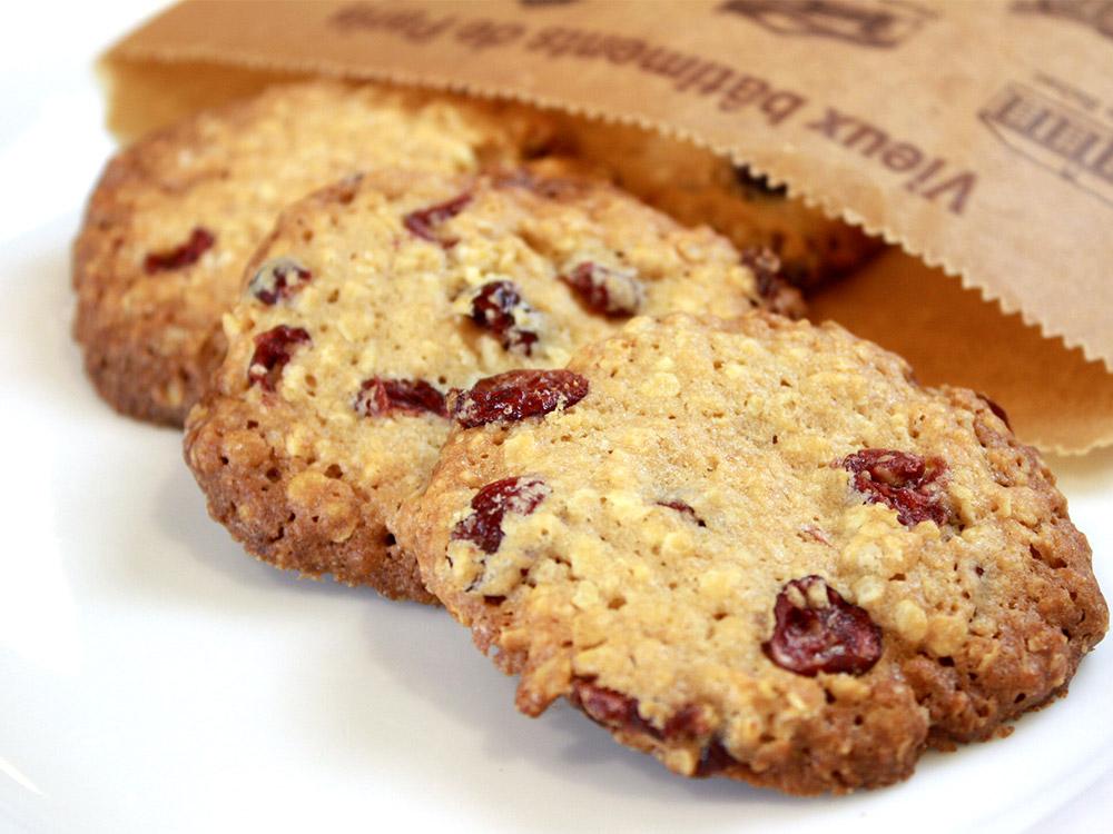 オートミールとクランベリーのザクザククッキー